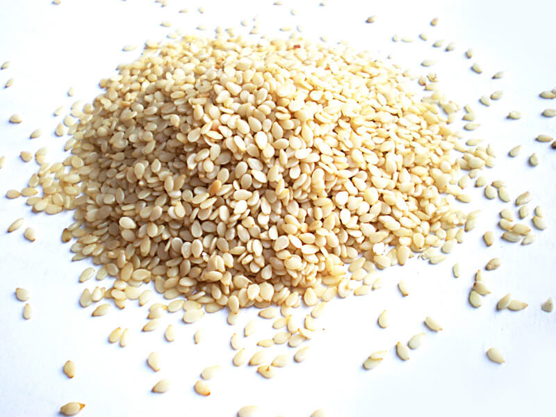 A pile of sesame seeds