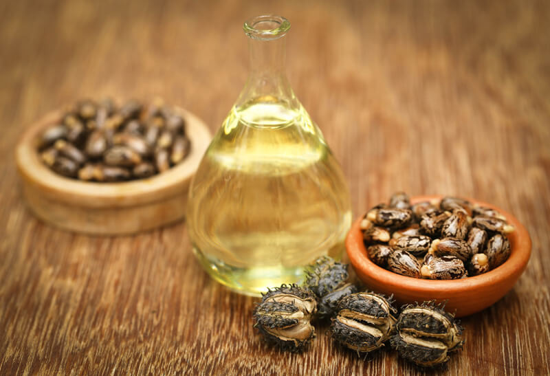 Castor oil with castor beans